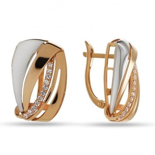 Золоті сережки з фіанітом СВ831и
