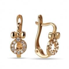 Золотые серьги с цирконием СВ833и