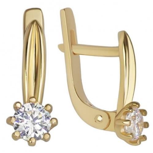 Золоті сережки з фіанітом СВ907и