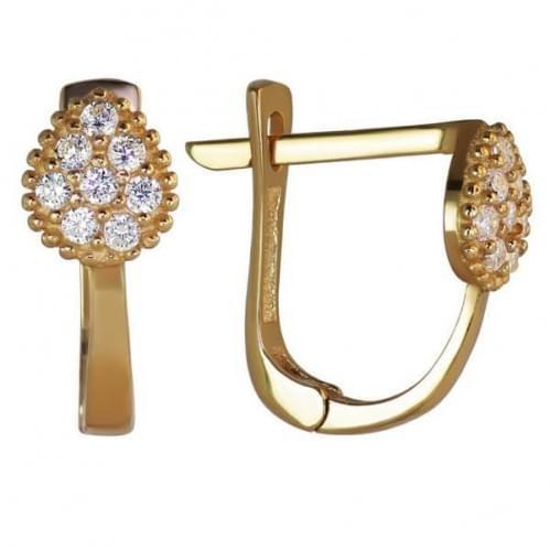 Золоті сережки з фіанітом СВ917и