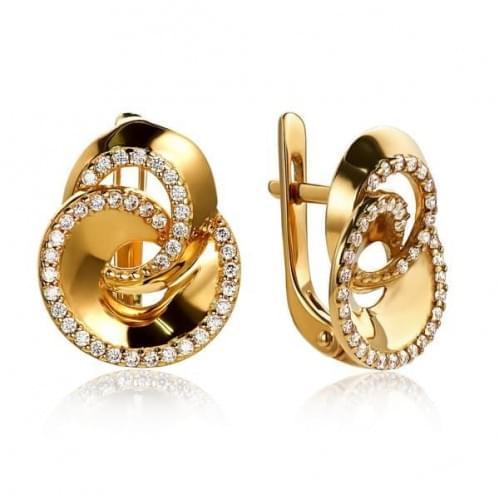 Золоті сережки з фіанітом СВ984и