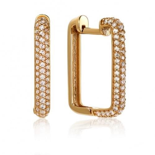 Золоті сережки з фіанітом СВ988и