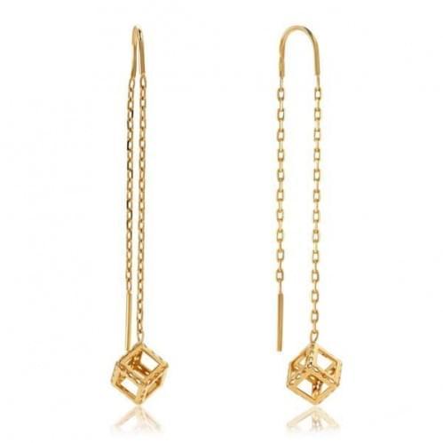Золоті сережки-протяжки СПП801и