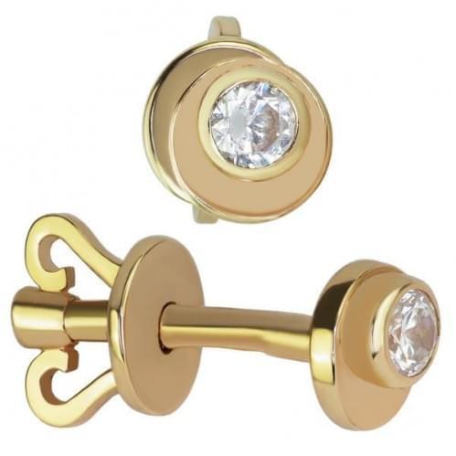 Золоті сережки зі вставкою СП087н