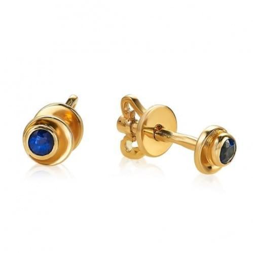 Золоті сережки з сапфіром СП087.00302н