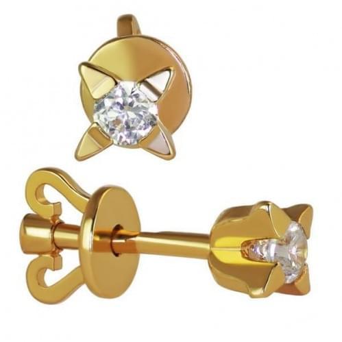 Золоті Пусети (сережки-гвоздики) СП1107и