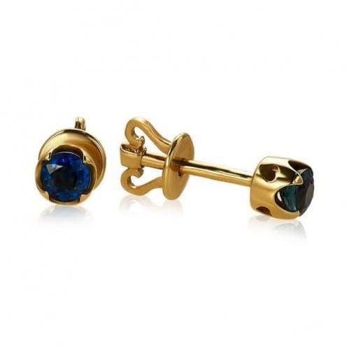 Золоті сережки з сапфіром СП1109.00302н