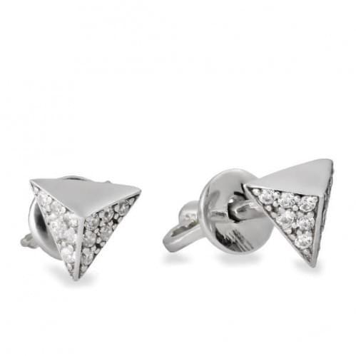 Срібні пусети з фіанітами СП1139с