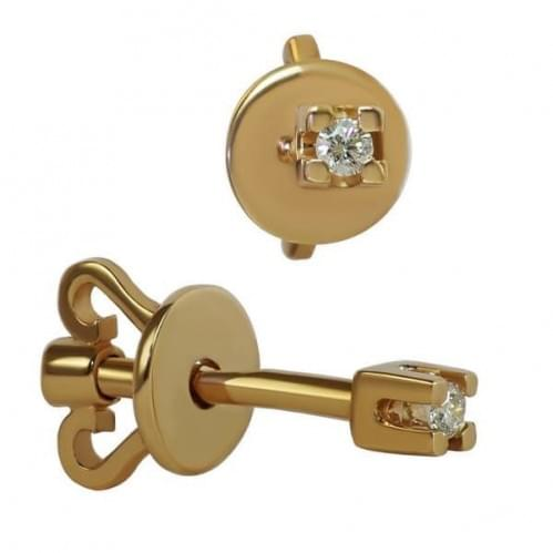 Золоті Пусети (сережки-гвоздики) СП128и