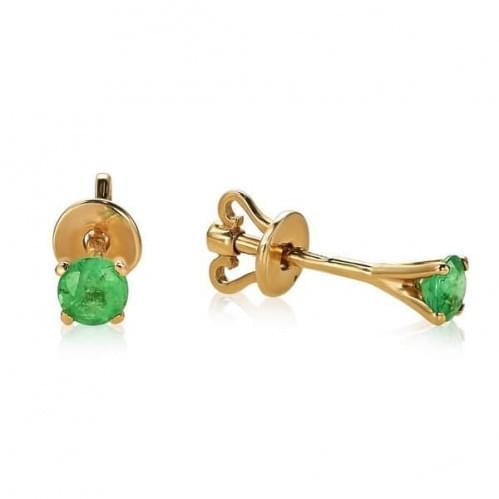 Золоті сережки зі смарагдом СП129.00207н