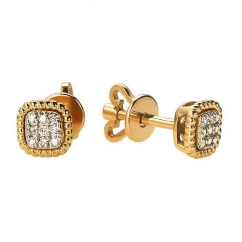 Пессеты золотые с бриллиантами