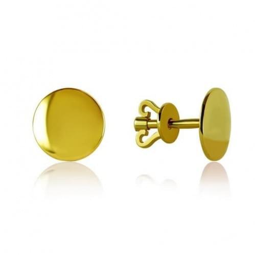 Пусеты из лимонного золота СП285Ли