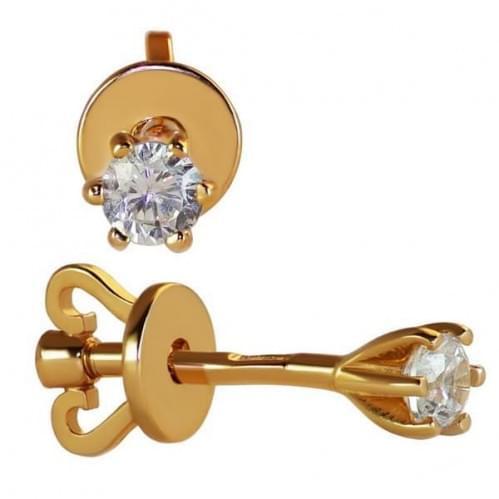 Золоті пусети з фіанітом СП286и