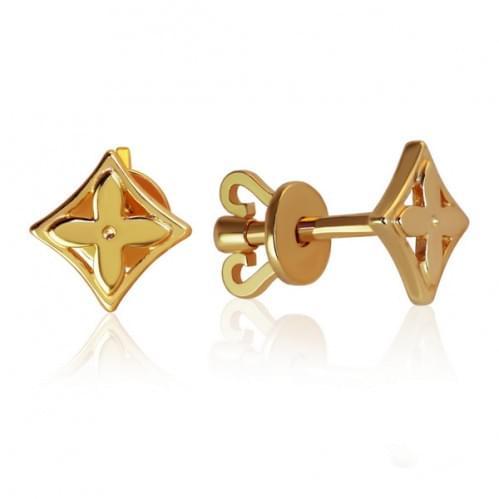 Золотые пусеты СП288и
