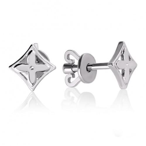 Серьги пусеты серебряные (гвоздики) без камней