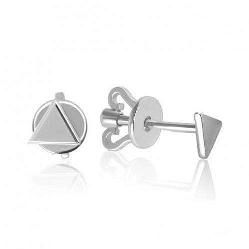 Серебряные пусеты СП289с