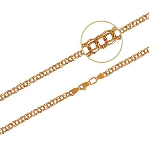 Толстая цепочка из красного золота